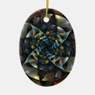 Pinwheel Abstract Art Oval Ornament