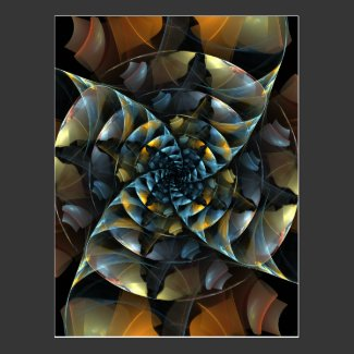 Pinwheel Abstract Art Postcard