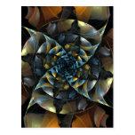 Pinwheel Abstract Art Postcard