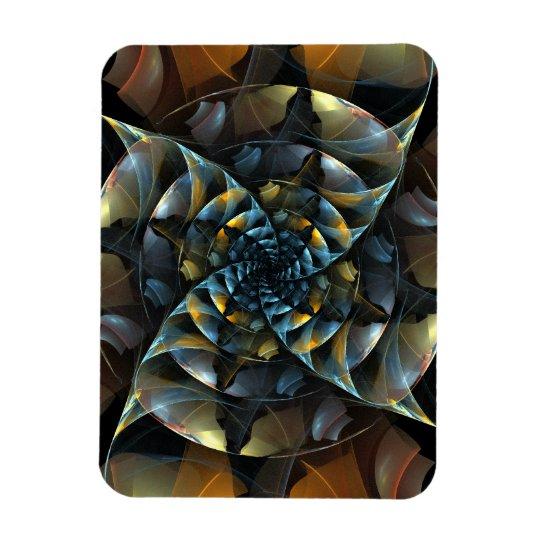 Pinwheel Abstract Art Premium Magnet