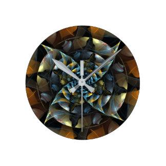 Pinwheel Abstract Art Round Round Clock