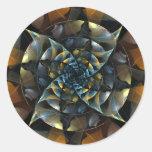 Pinwheel Abstract Art Round Sticker