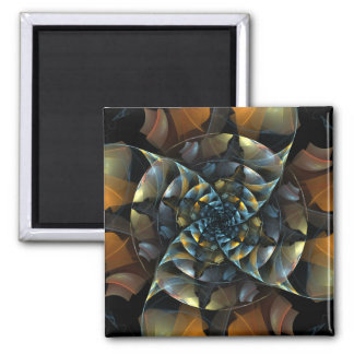 Pinwheel Abstract Art Square Magnet