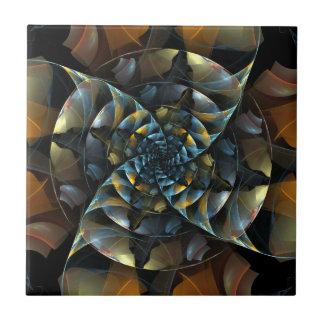 Pinwheel Abstract Art Tile