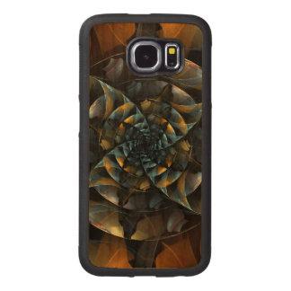 Pinwheel Abstract Art Wood Phone Case