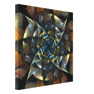 Pinwheel Abstract Art Wrapped Canvas Print