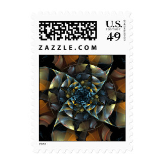 Pinwheel Abstract Postage Stamp