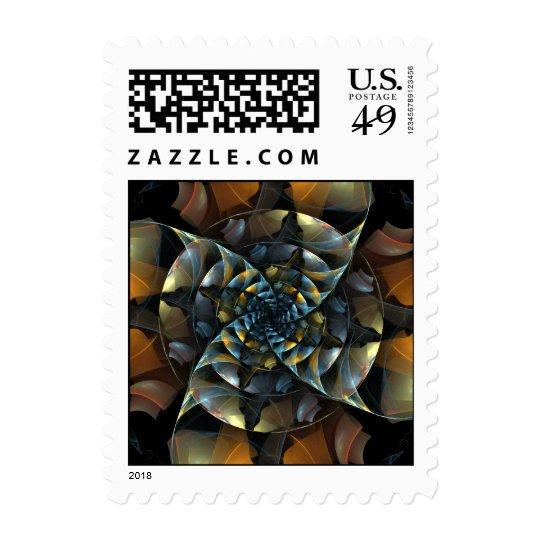 Pinwheel Abstract Postage Stamp