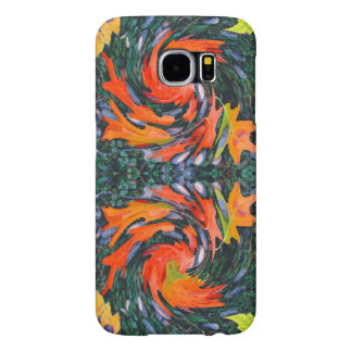 Pinwheel Autumn Leaves & Acorns Samsung Galaxy S6 Case
