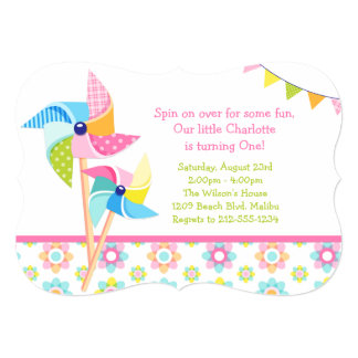 Pinwheel Birthday Party Card