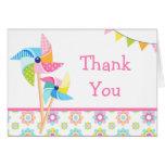 Pinwheel Birthday Party Thank You Card