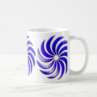 Pinwheel - blue-mug coffee mug