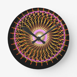Pinwheel Round Wall Clock