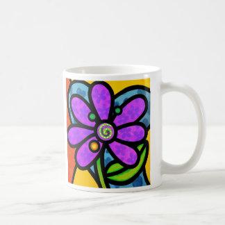 Pinwheel Daisy in Purple Coffee Mug