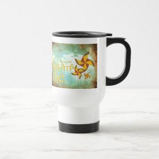 pinwheel daydreams travel mug