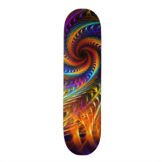 """Pinwheel Dreams"" -  Abstract Spiral Fractal Art Skateboard Deck"