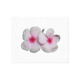 Pinwheel flower pink with natural marks canvas print