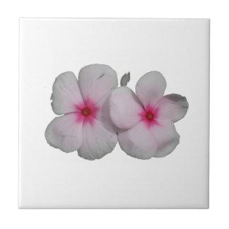 Pinwheel flower pink with natural marks ceramic tile