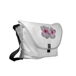 Pinwheel flower pink with natural marks courier bag