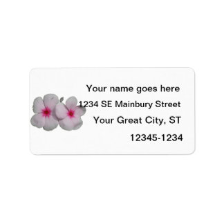 Pinwheel flower pink with natural marks personalized address labels