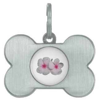 Pinwheel flower pink with natural marks pet tags