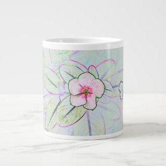 pinwheel flower sketch colorful floral plant 20 oz large ceramic coffee mug