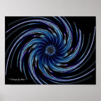 Pinwheel Fractal Poster