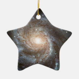 Pinwheel galaxy Hubble Telescope Outer Space Photo Ceramic Ornament