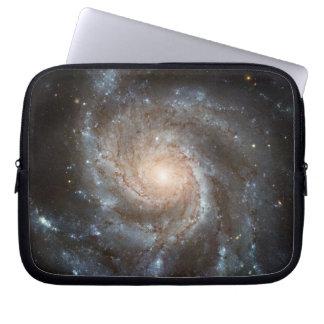 Pinwheel galaxy Hubble Telescope Outer Space Photo Laptop Sleeve
