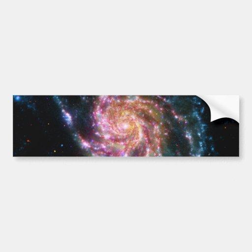 Pinwheel Galaxy Spiral Space Bumper Sticker