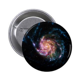 Pinwheel Galaxy Spiral Space Button