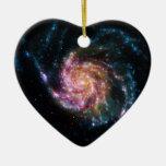 Pinwheel Galaxy Spiral Space Ceramic Ornament