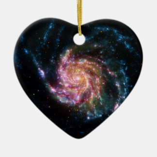 Pinwheel Galaxy Spiral Space Ceramic Ornament