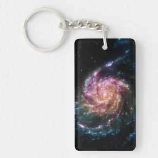 Pinwheel Galaxy Spiral Space Double-Sided Rectangular Acrylic Keychain