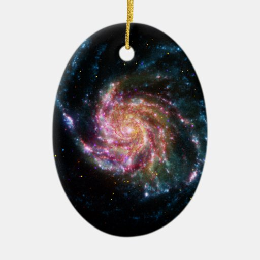 Pinwheel Galaxy Spiral Space Christmas Tree Ornaments