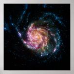 Pinwheel Galaxy Spiral Space Poster