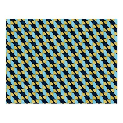 Pinwheel Geo Pattern Postcards