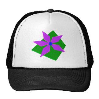 PINWHEEL, green and purple Trucker Hat