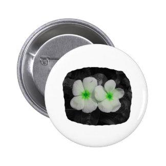 Pinwheel green circle  flower cutout button