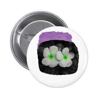 Pinwheel green circle  flower cutout buttons