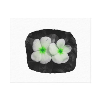 Pinwheel green circle  flower cutout canvas print