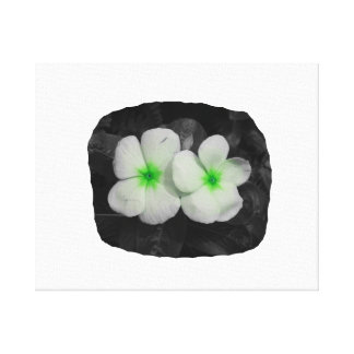 Pinwheel green circle  flower cutout canvas print