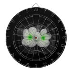 Pinwheel green circle  flower cutout dart boards