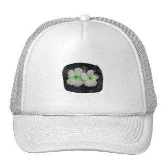 Pinwheel green circle  flower cutout trucker hat