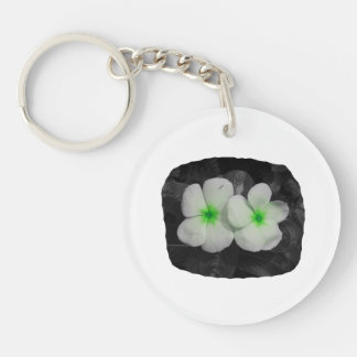 Pinwheel green circle  flower cutout acrylic keychain