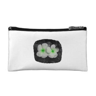 Pinwheel green circle  flower cutout makeup bag
