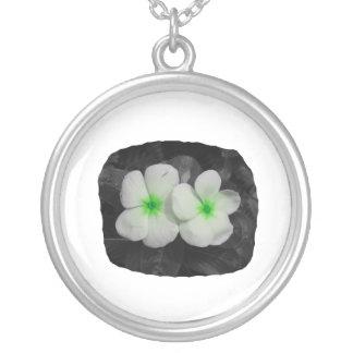 Pinwheel green circle  flower cutout pendant