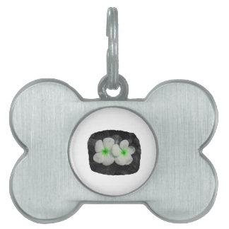 Pinwheel green circle  flower cutout pet tags