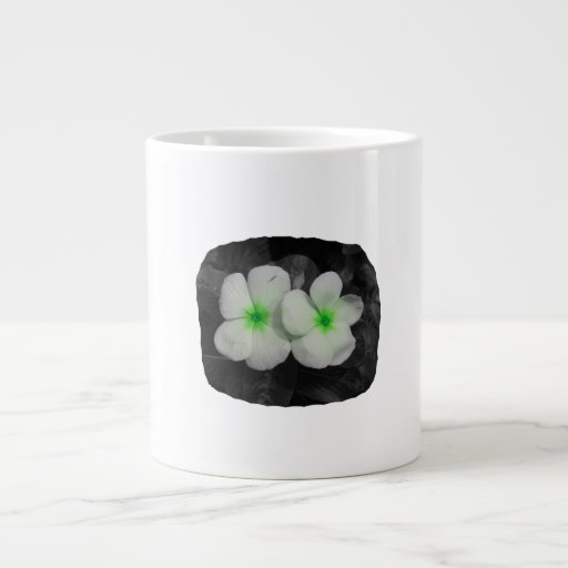 Pinwheel green circle  flower cutout extra large mug