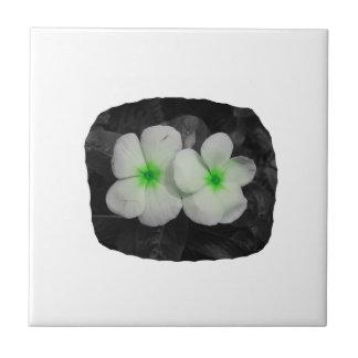 Pinwheel green circle  flower cutout tile